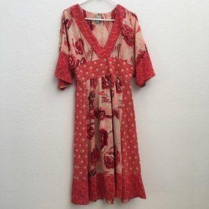 Anthropologie Tracy Reese Silk Kimono Dress